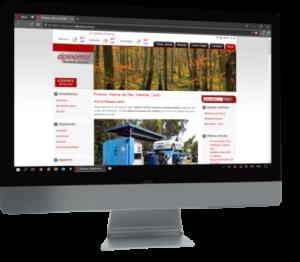 diseño para portal de noticias dpinamar