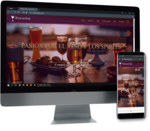 diseño para tienda de vinos